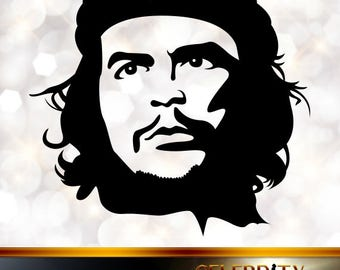 Che Guevara Silhouette, artist silhouettes, celebrity silhouette, famous people