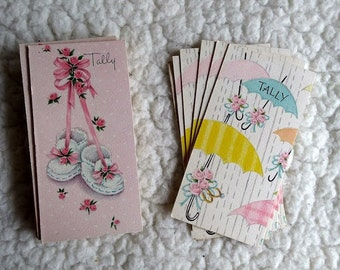 Vintage Tally Cards for Bridge