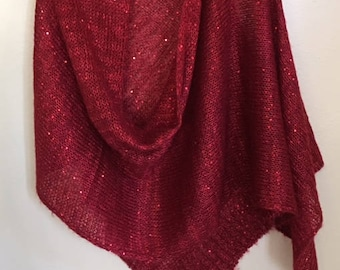 Red shawl by Veond
