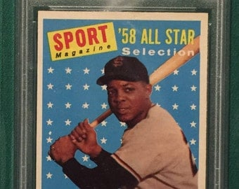 1958 Topps Willie Mays - PSA 6 - EX-MT - Sharp!!!!!