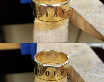 Stay Gold Brass Ring