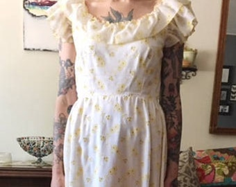Vintage 1970s Eyelet Gown
