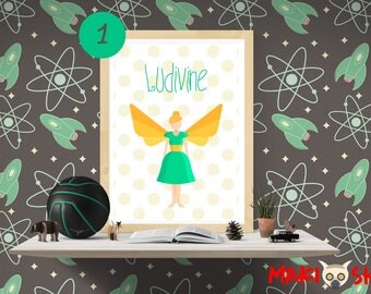 "Personalized kids name - Collection ""Fairy Tail"" poster"
