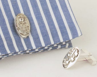Sterling Silver Heraldry Cufflinks