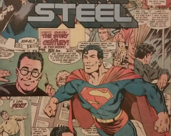 DC Superman Man of Steel Comic Collage