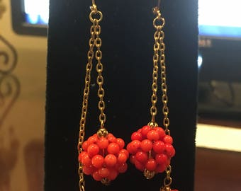 Red Coral Earrings by Dobka