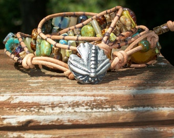 Dragonfly Fun Three Wrap Bracelet