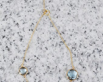 18k Blue Topaz Bracelet