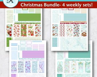 Passion Planner Stickers * Compact Sized Passion Planner * Printable Planner Stickers - CHRISTMAS BUNDLE - Digital Download