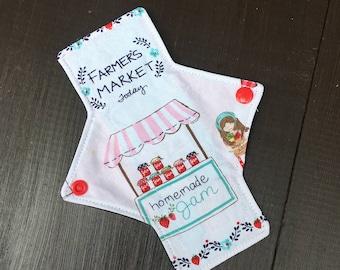 7 inch liner/light cloth pad, cloth pads, panty liners, light cloth pad, reusable cloth pads, reusable, mama cloth
