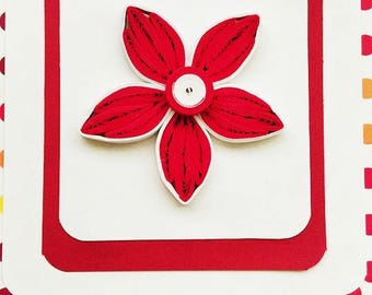 Flower Greeting Quilled Card