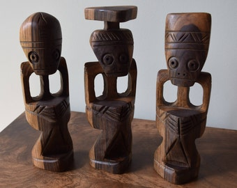 African Hand Carved Statues.