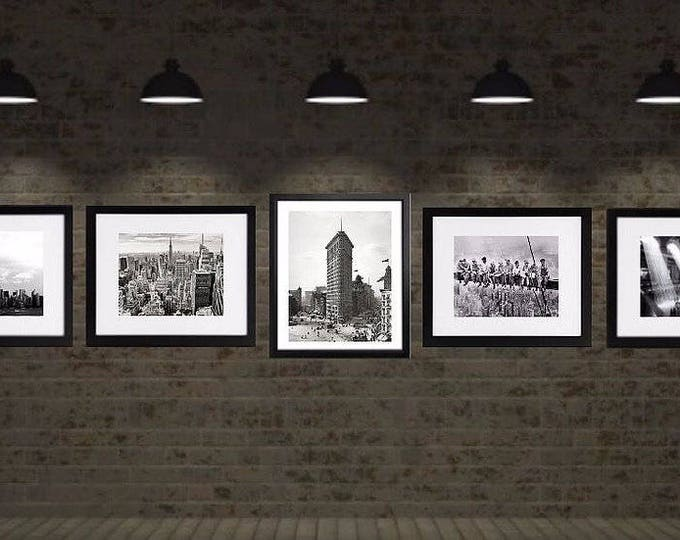 New York Print Set, New York Photography,framed black and white new york photos, Framed photos sets, Set of 5