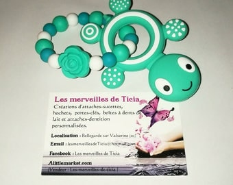 """Turtle"" silicone teething ring"