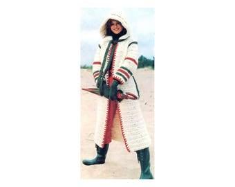 Hooded Coat Crochet Pattern - Long jacket