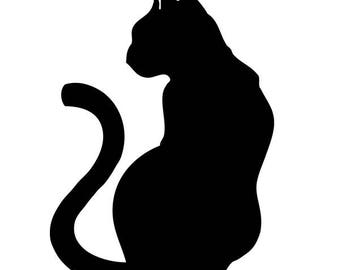 "P.V.C 200 Micron ""profile cat"" stencil reusable 19 x 13 cms (possible other sizes)"