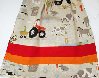 Elasticated towel learn to count on the farm