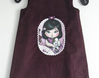 "Pretty little dress ""little girl and her puppy"" 5/6 years! WINTER"