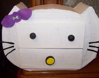 jewelry box for girl, cat shape