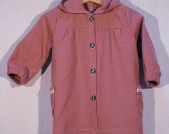 Summer hooded pink coat size 90cm (2/3 years)