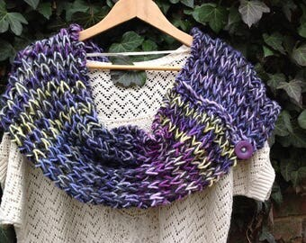 "Double Snood, hand knitted, Collection ""Bodach an storr"""