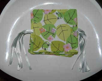 Washable wipes frogs that débarbouillent, wipes, wipes eco, square washable, eco-friendly wipe, reusable wipe