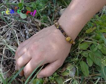 Tiger eye stone elastic bracelet
