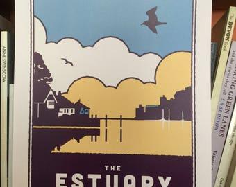 The Estuary in Dartmouth print poster A3