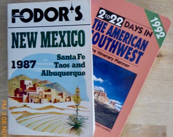 Two Vintage New Mexico Travel Guides: 1987 & 1992