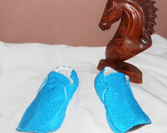 Blue glitter shoes adult washable T42/44