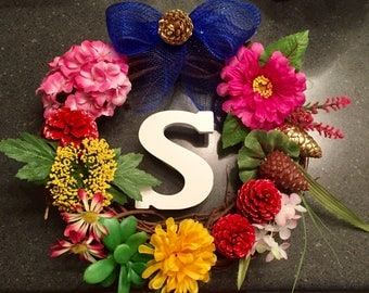 Spring/Summer Wreath with letter