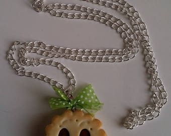 Gourmet cold porcelain jewelry necklace