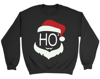 Ho Ho Ho Christmas Sweater, Ugly Christmas Sweater, Santa Claus Ho Ho Ho Sweater, Funny Christmas Sweater, Unisex Christmas Sweatshirts