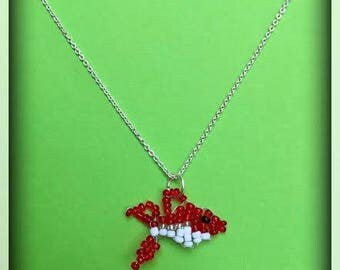 Beaded fish necklace