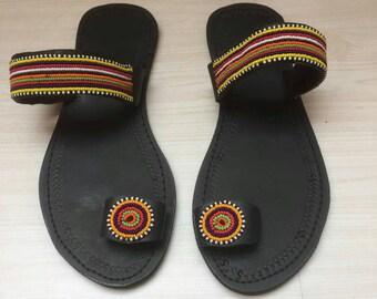 Leather sandals/maasai sandals/african safari sandals/kenya sandals