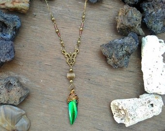 Elytron scarab necklace
