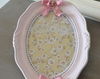 Pink shabby chic picture frame