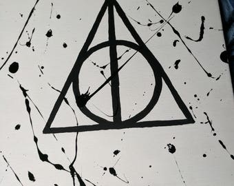 Harry Potter Triangle Painting On Stretched Canvas