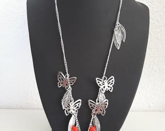 Leaf and Butterfly Necklace