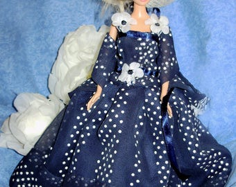 Dress and Cape Floral Barbie