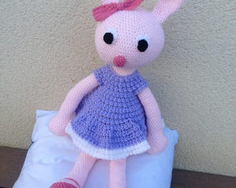 Rabbit dress crocheted handmade - Amigurumi