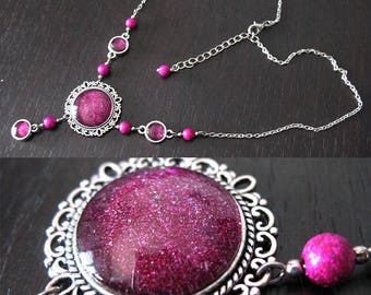 Long necklaces from 45 to 75 cm with cabochon