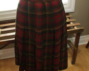 1970's Tartan Pleated Skirt