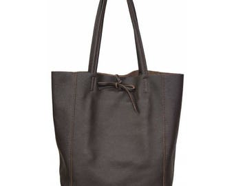 SAC à main shopping woman brown leather