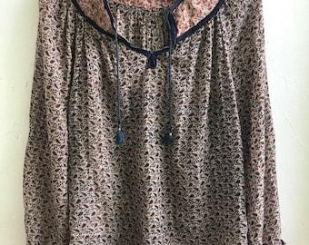 1970's india cotton gauze tunic