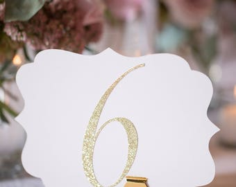 Scallop Table Numbers