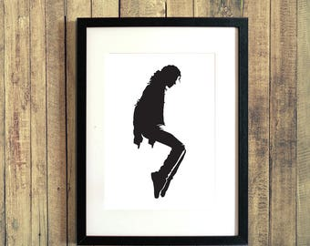 Michael Jackson Dancing Toes Silhouette - A4 Art Print - Download and Print at Home