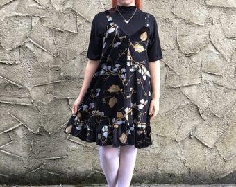 Handmade 'Lottie' Dress in Floral Velvet