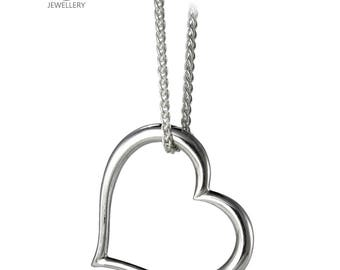David Jonns Silver Open Heart Pendant