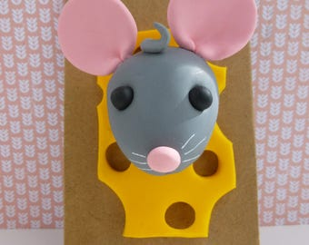Trophy mouse polymer clay